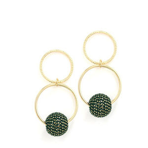 Lovers Tempo Countdown Drop Earring in Green